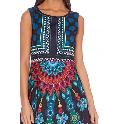 shop dress tunic print summer 101 idées 105Y ethnic wear