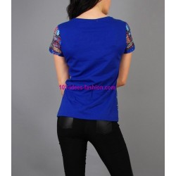 buy top t-shirt lace summer brand 101 idées Design 187VRA online