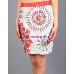skirt print floral 101 idees 383VRA boutique clothing