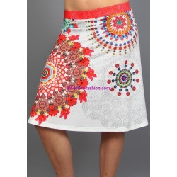 buy skirt print ethnic 101 idees 132VRA online