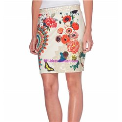 Mini skirt print ethnic floral 101 idees 620Y