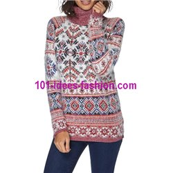 Pullover Soft-Touch print bunt 101 idées 8210W Neue Winter Kollektion