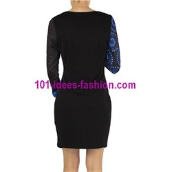 dress tunic print mid season 101 idées 402A New winter collection