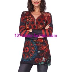 tunic lace ethnic winter 101 idées 156W