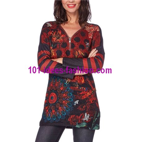 tunic lace ethnic winter 101 idées 156W paris french