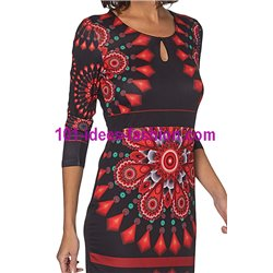 Dress tunic ethnic winter 101 idées 404VVE paris french