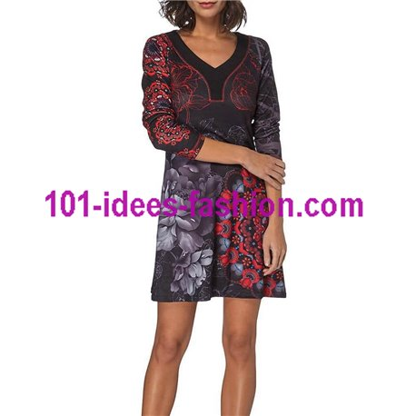 Dress tunic floral ethnic winter 101 idées 311IN store uk