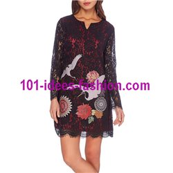 dress tunic lace chic 101 idées 914W christmas clothes and new year