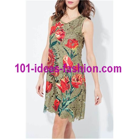 dress tunic lace chic 101 idées 1129W Spring Summer 2018