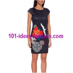 dress tunic ethnic floral print summer 101 idées 116Y