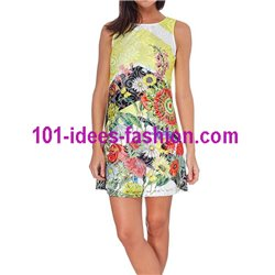 dress tunic lace summer floral 101 idées 1506Y Spring Summer 2018