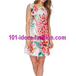 dress tunic lace summer ethnic butterflies 101 idées 380VRA Spring