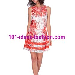 dress tunic lace summer ethnic floral 101 idées 1511Y