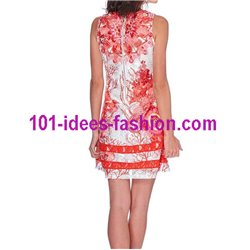 dress tunic lace summer ethnic floral 101 idées 1511Y Spring Summer