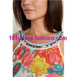 dress tunic ethnic floral print summer 101 idées 1678Y Spring Summer