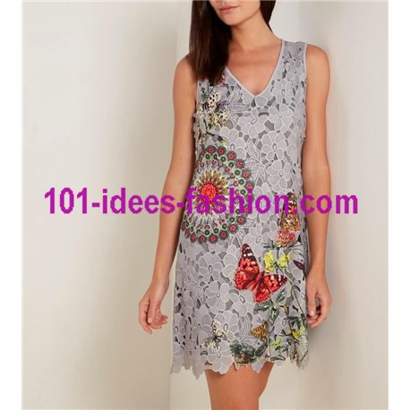 dress tunic lace chic 101 idées 1127W Spring Summer 2018
