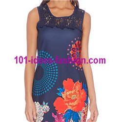 dress tunic lace summer ethnic floral 101 idées 647Y Spring Summer