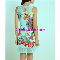 dress tunic lace summer ethnic floral 101 idées 627Y clothes for women