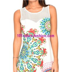dress tunic lace ethnic floral plus size 101 idées 635YL womens