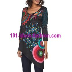 tunic ethnic asymmetric winter 101 idées 160W clothes for women