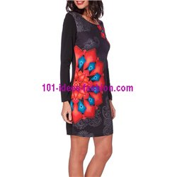 boho chic dress tunic print mid season 101 idées 211V clothes for