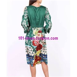 boho chic dress tunic floral print summer 101 idées 3614P clothes for