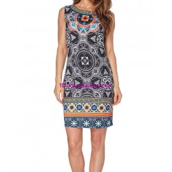 dress tunic ethnic print summer 101 idées 102P