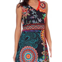 boho chic dress tunic ethnic floral print summer 101 idées 634Y