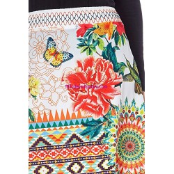 boho chic skirt floral print summer 101 idées 870P clothes for women