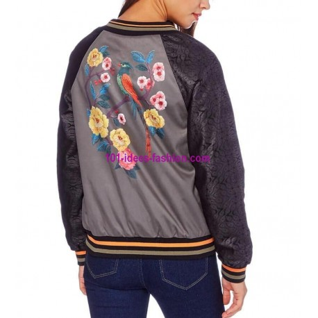buy now bomber jacket suede print 101 idées 350BOM clothes for women