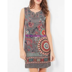 buy now dress tunic suede ethnic floral 101 idées 380P clothes for