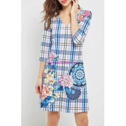 buy now dress tunic floral print summer 101 idées 4607P clothes for