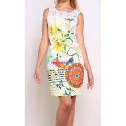 buy now dress tunic lace summer ethnic floral 101 idées 614P clothes