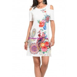 buy now dress tunic ethnic floral print summer 101 idées 2308P