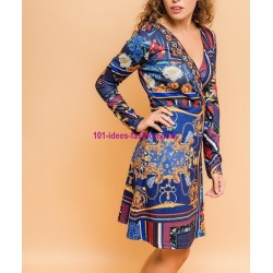 buy now Dress tunic floral ethnic winter 101 idées 2182Z clothes for