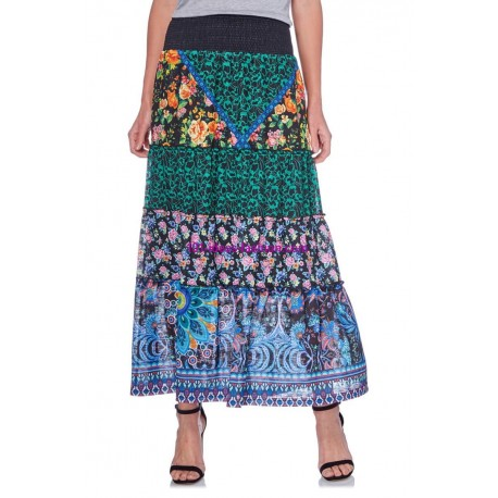 buy now maxiskirt ethnic floral summer 101 idées 1610Y clothes for