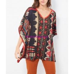 buy now poncho winter ethnic tribal 101 idées 2130Z clothes for women