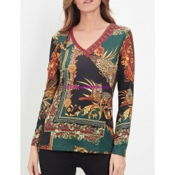 buy now T-shirt top winter ethnic 101 idées 2195Z clothes for women