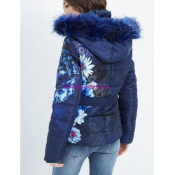 buy now coat short quilted plus size floral print fur hood brand 101
