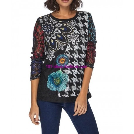 T-shirt top winter 101 idées 096W spanish style