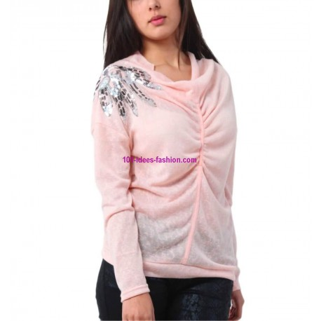 t-shirts tops blouses winter brand 101 idees 3238R spanish style