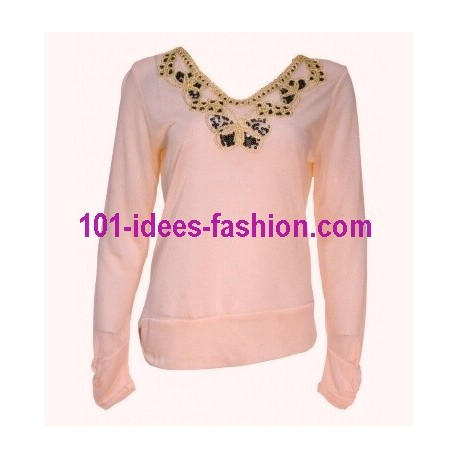 t-shirts tops chemises hiver marque 101 idees 1671R mode Tendance