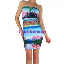 tunic dress summer brand 101 idées 902 french fashion