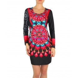 dress tunic print mid season 101 idées 402V