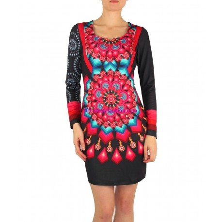 dress tunic print mid season 101 idées 402V french fashion
