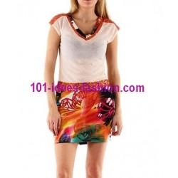 tunic dress summer brand 101 idées 1695R 2017 prom