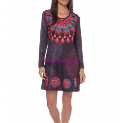 dress tunic print mid season 101 idées 405V french fashion