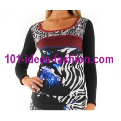 t-shirts tops blouses winter brand 101 idees 8386 spanish style