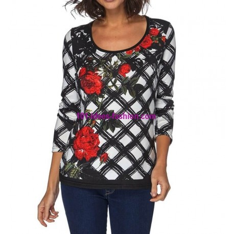 T-shirt top winter 101 idées 055W spanish style