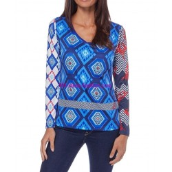 camiseta top verano marca 101 idees 070vra elegante fashion